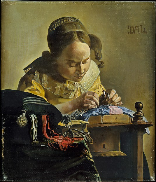 Salvador Dalí (Spanish, Figueres 1904–1989 Figueres )_The Lacemaker (after Vermeer) 1955