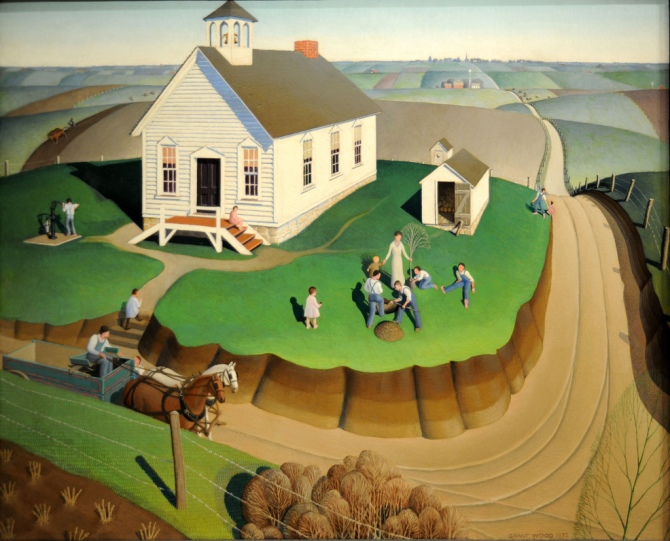 05 Grant Wood (Feb. 13, 1891 - 1942) Arbor Day, 1932 MFA, Boston