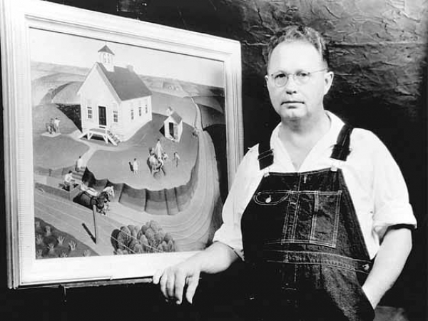05 Grant Wood with Arbor Day ca. 1932