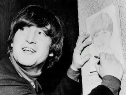 john lennon draws Ringo Star