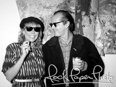 Joni Mitchell & Jack Nicholson – buddying up in 1985 at The James Corcoran Gallery's star