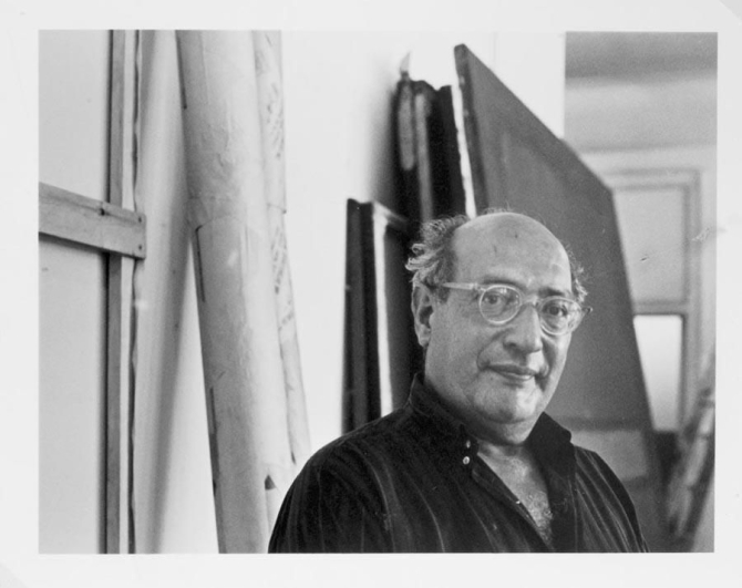 MARK ROTHKO IN HIS STUDIO. FOUR STUDIES, 1964