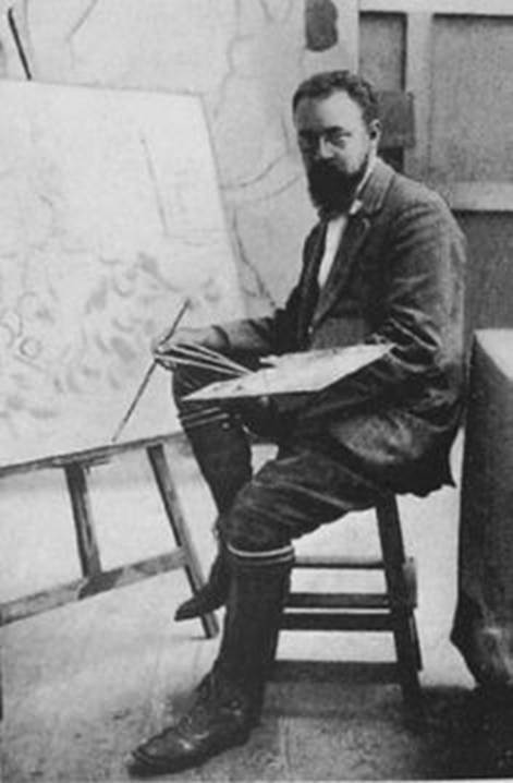 Matisse in the autum of 1911., Henri Matisse Famous Artists at Work in their