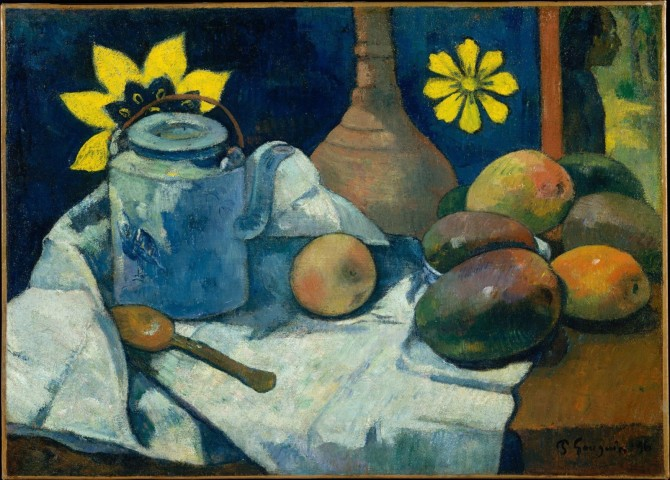 paul-gauguin-still-life-with-teapot-and-fruit-1896