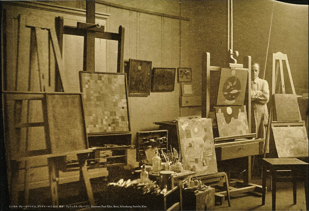 Paul Klee in his studio Bern 1926