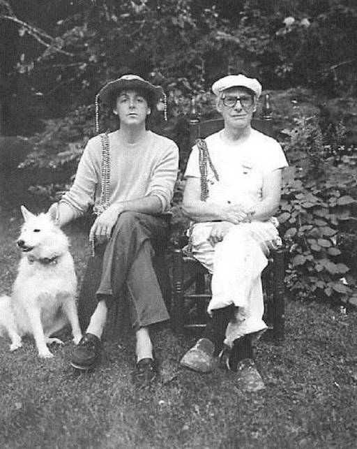 Paul McCartney and Willem de Kooning in 1983