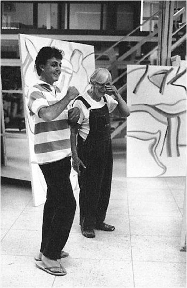 Paul McCartney and Willem de Kooning in 1984