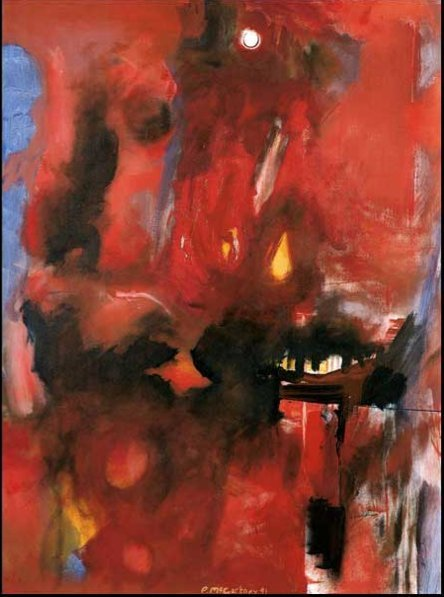 Paul McCartney Red Abstract White Moon 1991