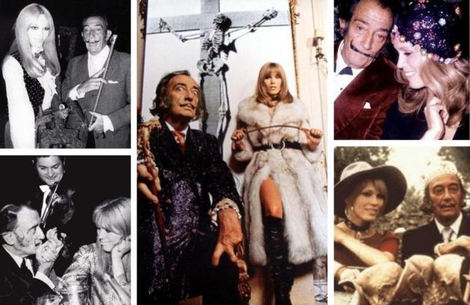 Salvador Dalí and Amanda Lear-lear-dans-les-annees-1965