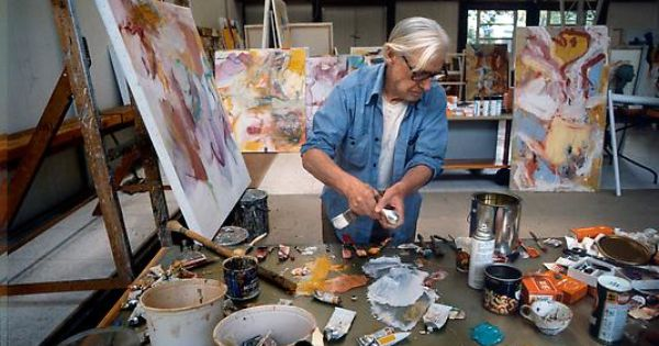Willem de Kooning in his studio, East Hampton, Long Island, October 3rd, 1981 Photo Eddy Posthuma de Boer