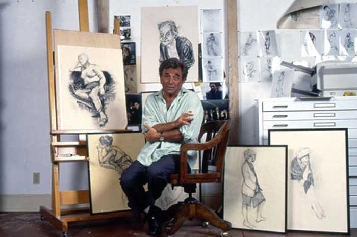 Peter Falk in his studio