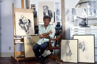 Peter Falk in his studio