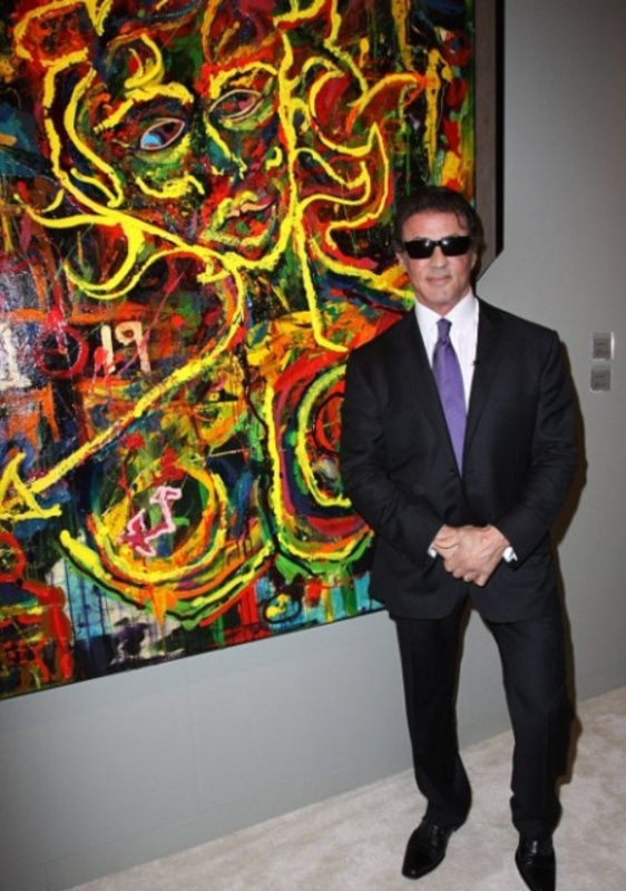Sylvester Stallone revealed his artwork to the world at the Art Basel Miami Beach Art Fair