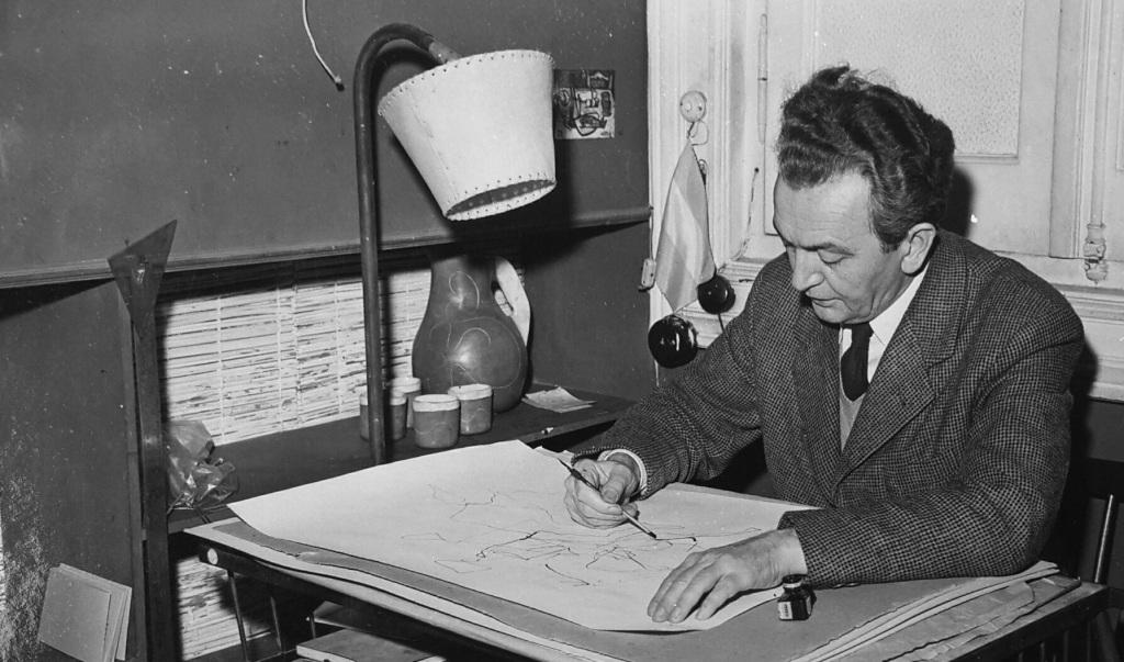 Szalay Lajos at work 1958