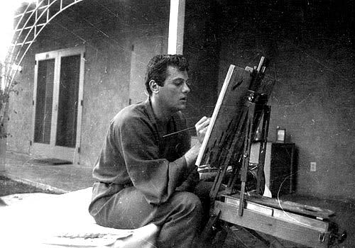Tony Curtis painting 1948