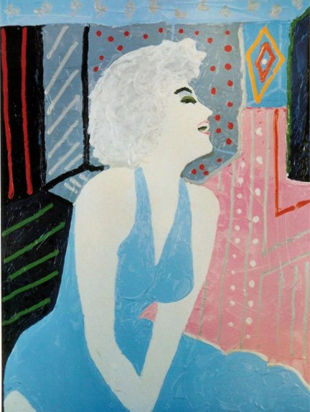 Tony_Curtis_Marilyn_Monroe_1988 Lithograph on Paper 61 x 41 cm