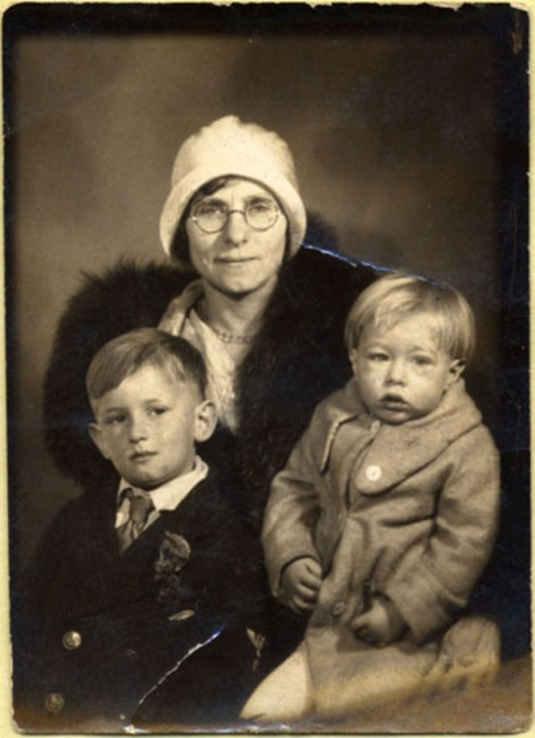 Andy Warhol at age 3 in 1932