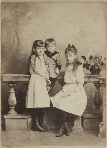 Egon Schiele and his sisters Melanie and Elvira, Vienna, circa 1893