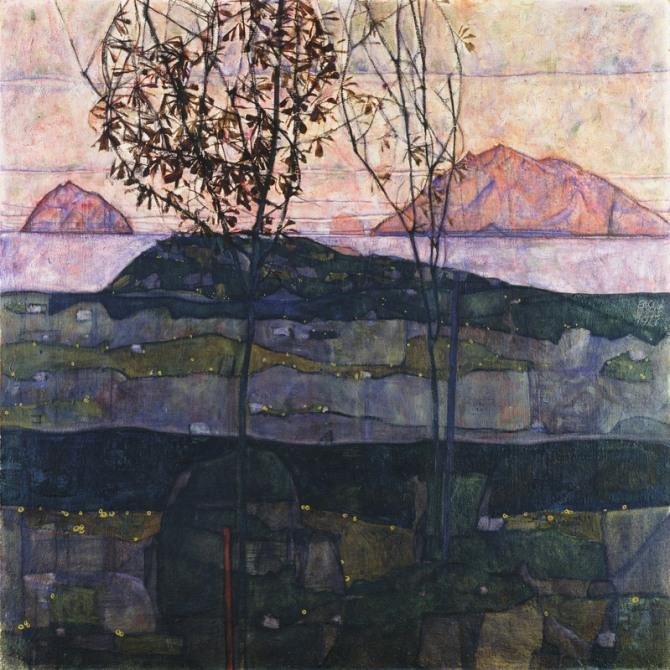 Egon Schiele Sunset 1913 Leopold Museum Vienna