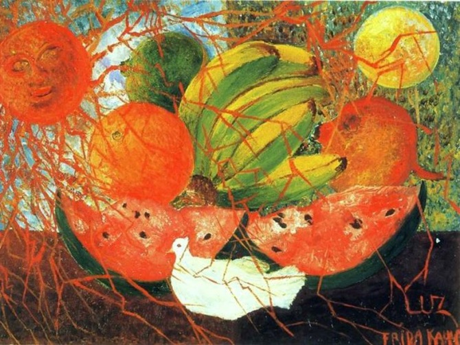 Frida Kahlo's 'Fruit of Life'. 1954. Oil on masonite