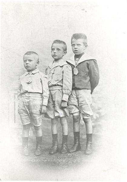 Paul, Raymond and René Magritte as children, ca. 1905