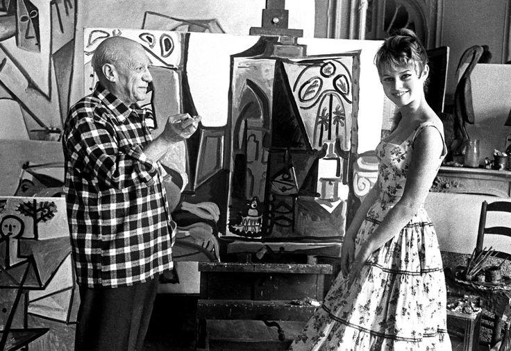 Brigitte Bardot Pablo Picasso's Atelier in Cannes, 1956