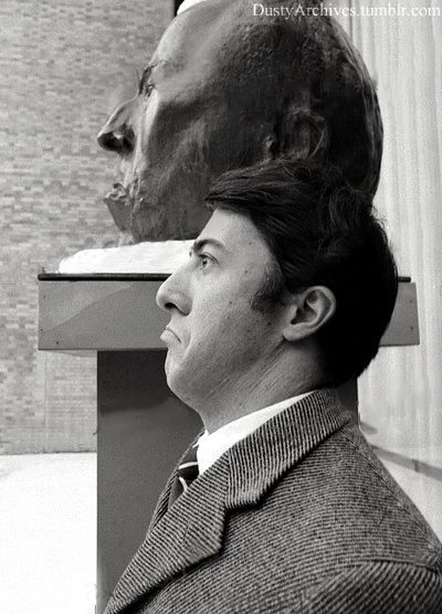 dustin hoffman visits the museum of modern art new york city 1968 photographed by robert goldberg_2