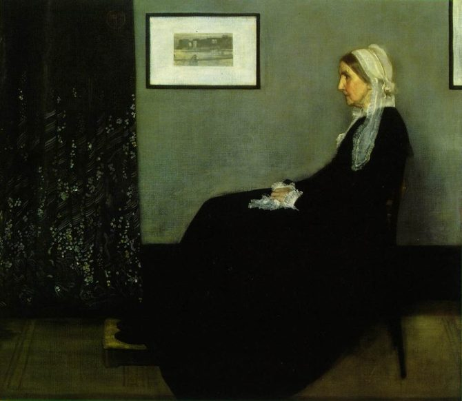 James Abbott McNeill WHISTLER (1834-1903; American-born, active mainly in England)_Portrait of the Painter's Mother 1871_oil on canvas 144.3x162.5 cm Musée d'Orsay Paris