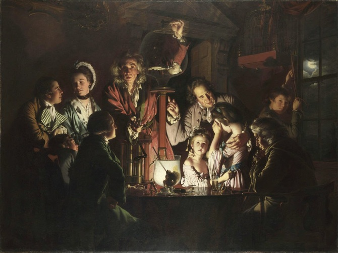 Joseph Wright - An Experiment on a Bird in an Air Pump , 1768.