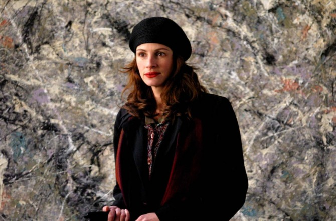 Julia Roberts in Mona Lisa Smile (2003) with Pollock's painting