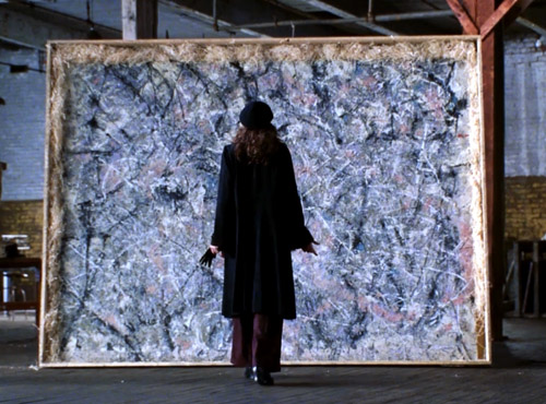 Julia Roberts in Mona Lisa Smile (2003) with Pollock's painting_egész