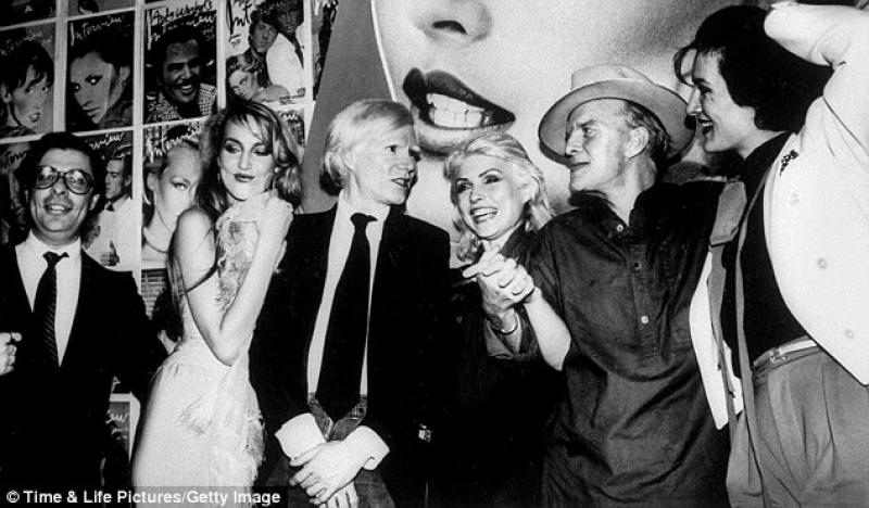 New Year's Day 1978, at Studio 54 with Andy Warhol, Debbie Harry, Truman Capote and Paloma Picasso
