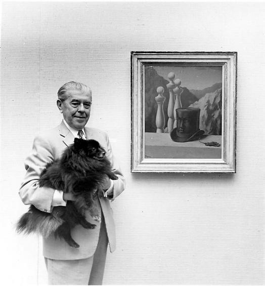 René Magritte and his dog 1966