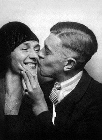 René Magritte and his wife Georgette Berger 1929