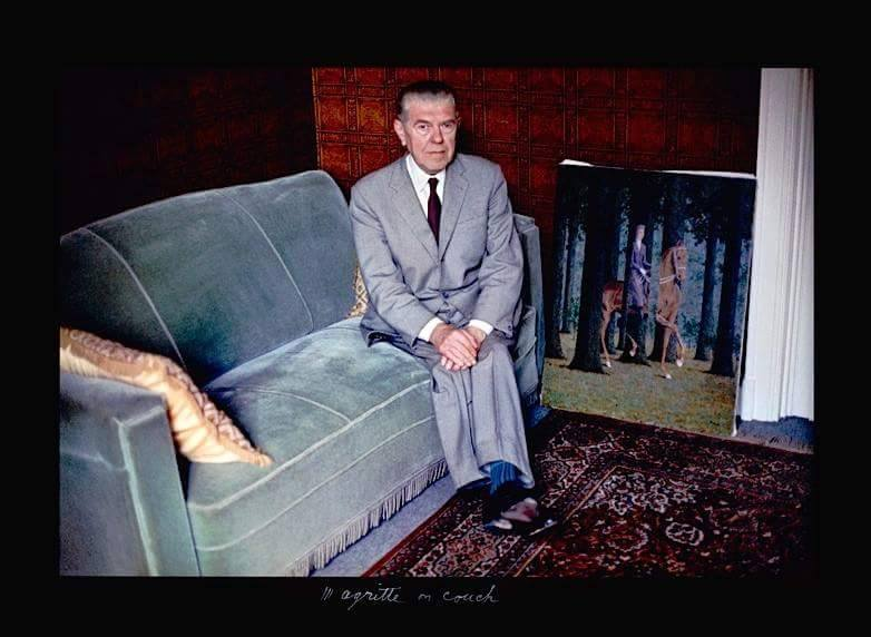 René Magritte in couch