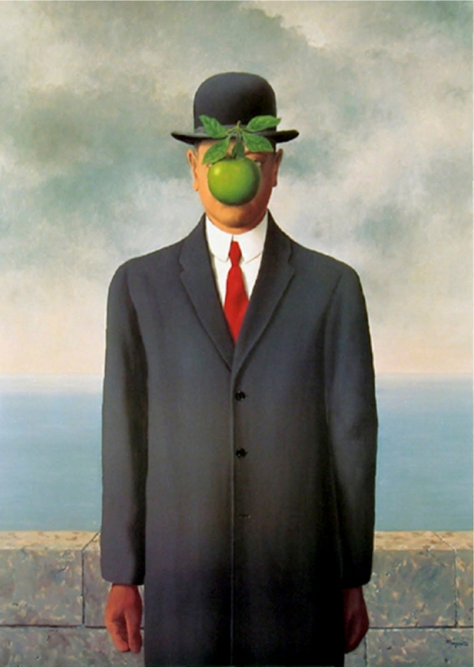 René Magritte The Son of Man painting