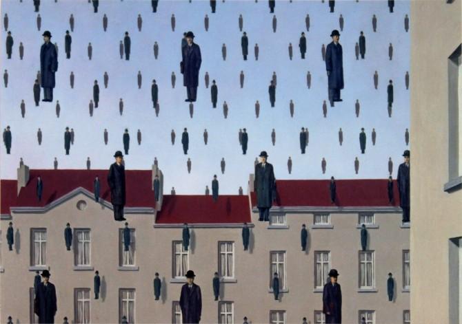 Rene Magritte Golconda 1953