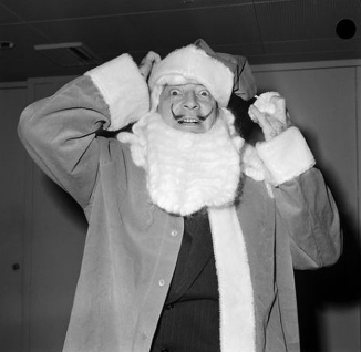 Salvador Dalí in Santa Claus suit 1961