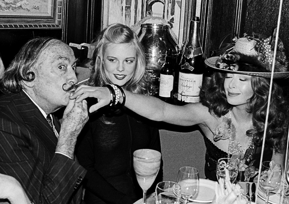 Salvador Dali and Janet Daly, on New Year's Eve, 1979 by Roxanne Lowit