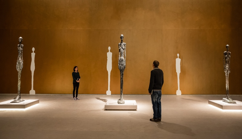 Sculptures of Giacometti at Leopold Museum Wien 2014-2015