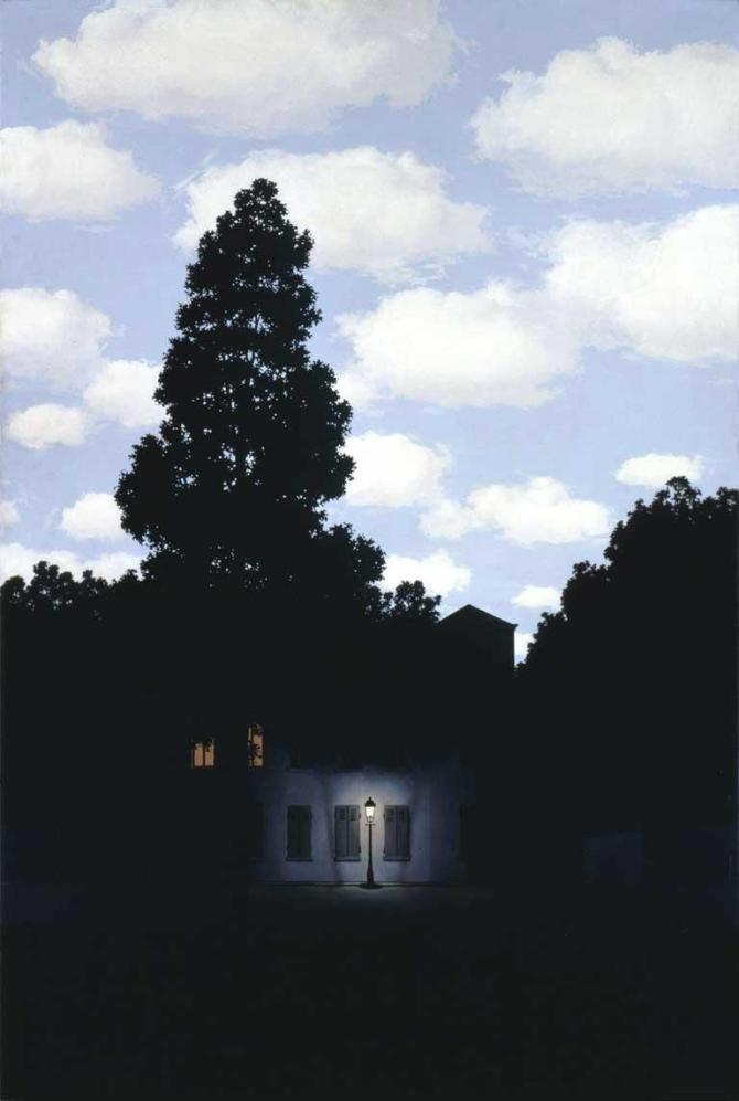 The Dominion of Light, 1953-4, By René Magritte