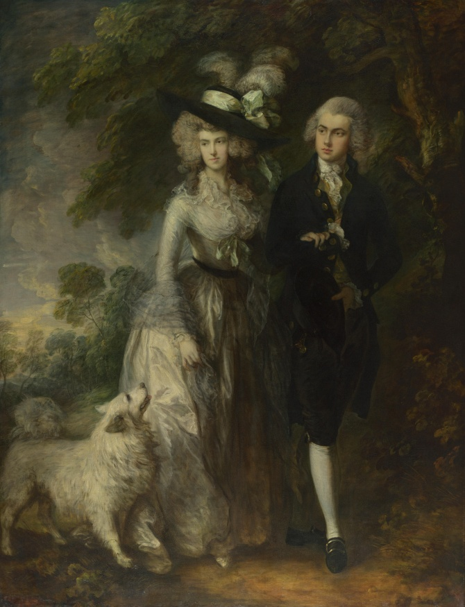 Thomas_Gainsborough_-_Mr_and_Mrs_William_Hallett_('The_Morning_Walk') 1785