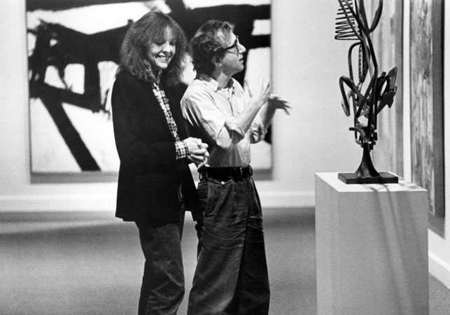 Woody Allen and Diane Keaton in 'Manhattan - filmed at the Whitney 1979