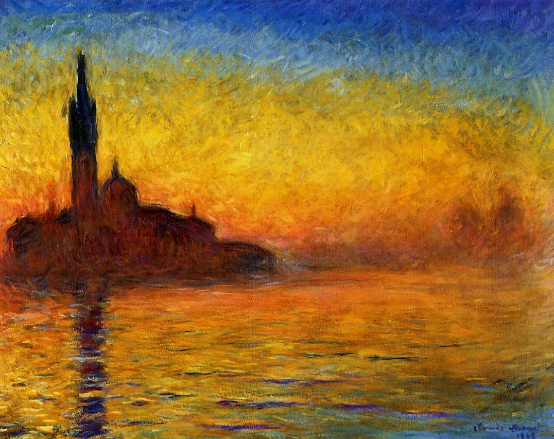 01.Claude Monet Sunset in Venice