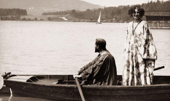 Gustav Klimt mit Emilie Flöge