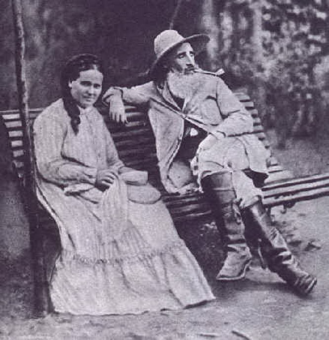 Camille Pissarro and his wife, Julie Vellay, 1877, Pontoise