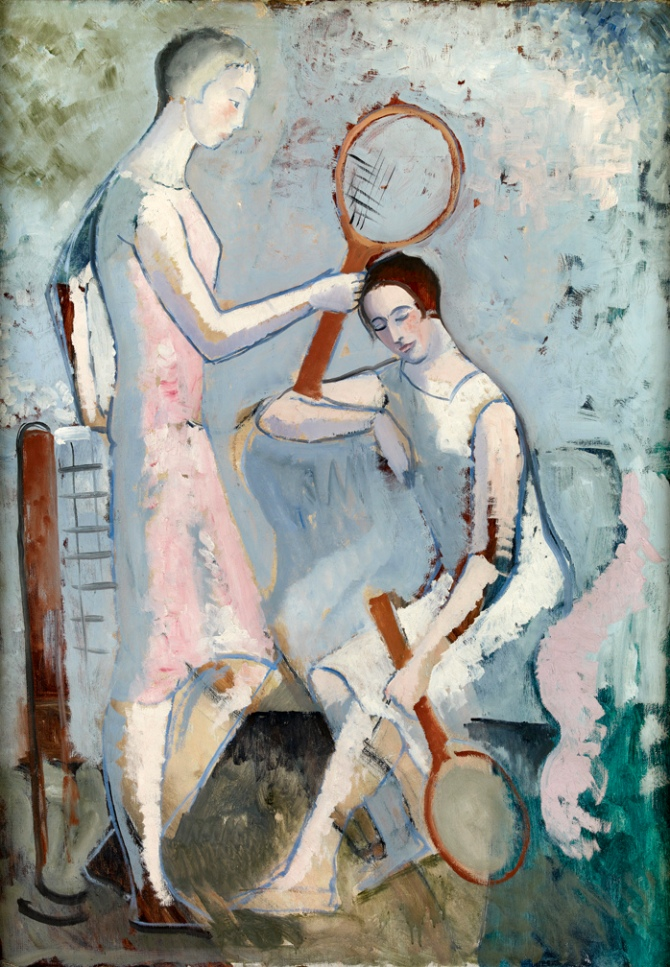 Christopher Wood - Tennis Players (1921) Private collection