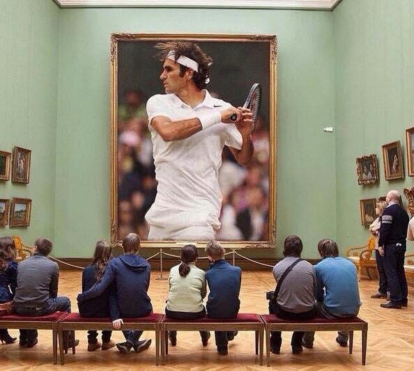 Federer in Museum