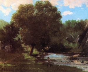 Gustave Courbet Landscape - The Fisherman