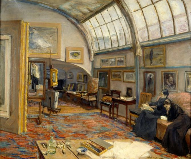 Max Liebermann (1847–1935) - Atelier